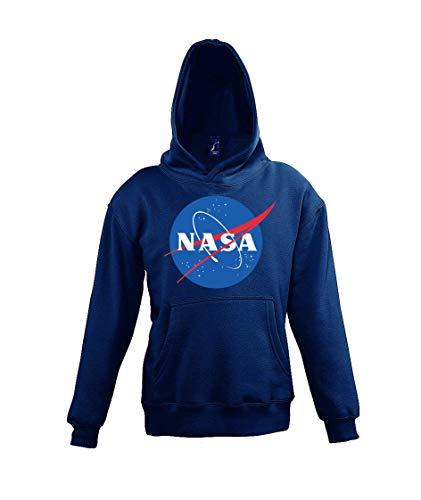 Youth Designz - Felpa con cappuccio per bambini modello NASA blu navy 8 anni