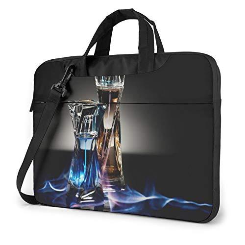 Bolsa de hombro para portátil – Botella de perfume impresa a prueba de golpes impermeable portátil mochila bolsa maletín, Black (Negro) - 259841-Black-136