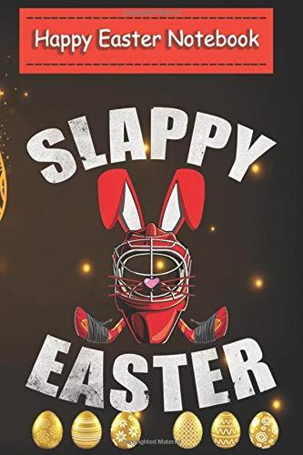 happy easter notebook for kids- Easter Hockey Gift Bunny Goalie Mask  Family Group: Easter Gifts for girls , women , teen girls ,girlfriend / easter eggs / journal , notebook (6x9) Inch