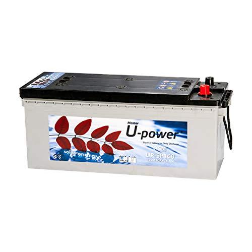 Master U-Power Batería Solar, AGM SP 160AH 12V