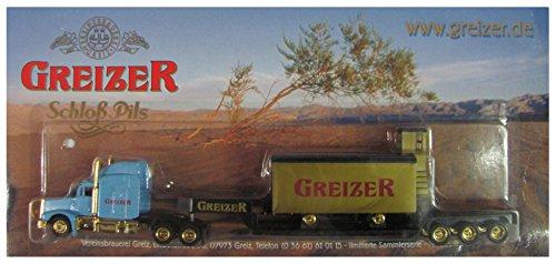 Greizer Brauerei Nr.28 - Schloß Pils - Peterbilt - US Sattelzug mit Güterwagen