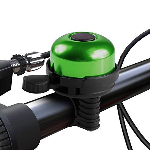 Paliston Campanello per Bicicletta Alluminio Campanello per Bici Stile 1 Verde