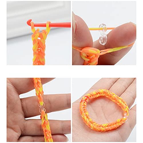 Gergxi Banda de punto, banda de goma elástica para el pelo que hace punto la pulsera DIY Kit de herramientas para niños y niñas