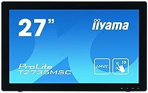 iiyama ProLite T2735MSC-B2 68,6 cm (27 Zoll) AMVA+ LED-Monitor Full-HD 10 Punkt Multitouch kapazitiv (VGA, DVI, HDMI (MHL), USB3.0, Webcam, Microfon) schwarz