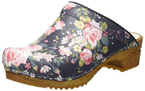 Sanita Damen Flok Open Clogs, Mehrfarbig (Blue 5), 41 EU