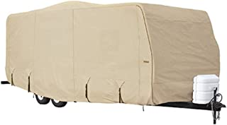 Goldline Travel Trailer RV Covers by Eevelle | Waterproof Fabric | Tan and Gray