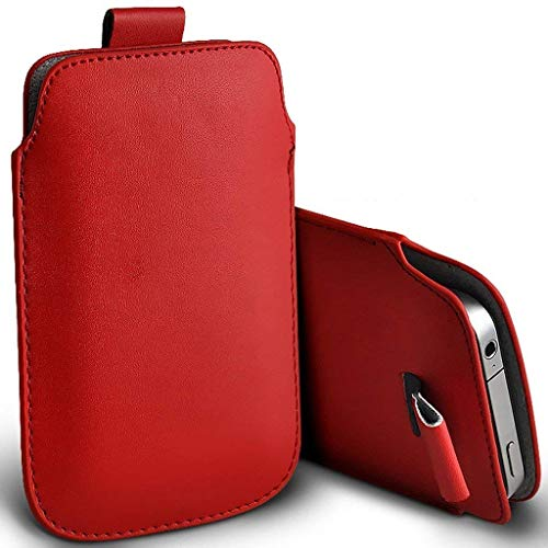 I-Sonite - Funda de piel sintética para Lenovo Vibe X2 Pro (XXL), color rojo