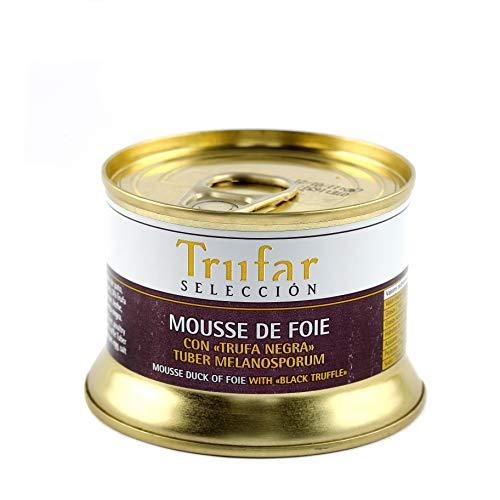 Trufar Selección - Mousse de Foie de Pato con Trufa Negra Tuber Melanosporum de Teruel - Receta Artesana - 130g - Calidad Gourmet
