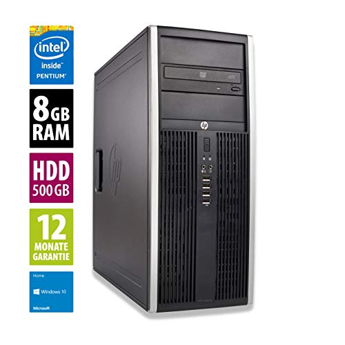 Ordinateur de Bureau HP Elite 8300 CMT - Pentium G2130 @ 3,2 GHz - 8Go RAM - 500Go HDD - Graveur DVD - Win10 Home (Reconditionné)