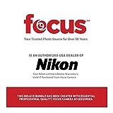 Nikon Monarch 5 10x42 Waterproof/Fogproof Roof Prism Binoculars (7577) Bundle with a Lens Pen + Harness + Case & Essential Accessories (5 Items)