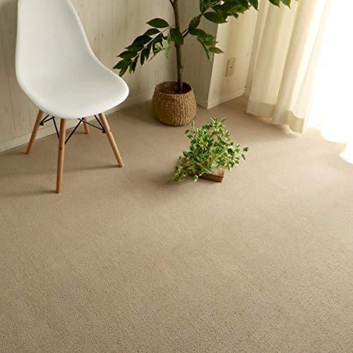 グラムスタイル カーペット 絨毯 カットできる 床暖対応 江戸間 6畳 ベージュ