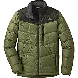 This photo shows the men's Outdoor Research Transcendent Down Jacket.