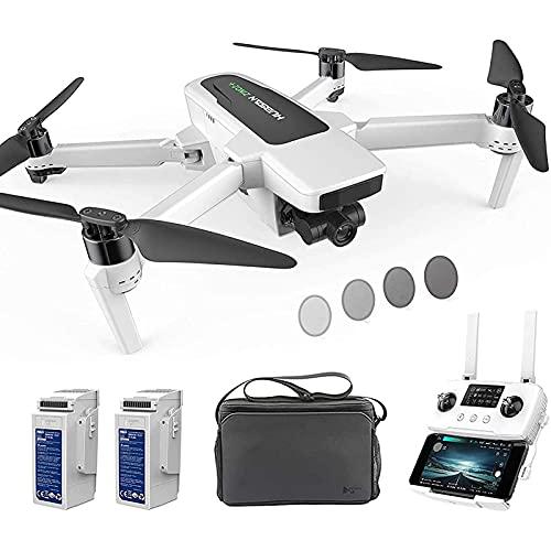 DCLINA Drone con Fotocamera UHD 4K-60fps GPS RC Drone 10KM FPV con Giunto cardanico a 3 Assi Staccabile, modalità Headless Volo 39 Minuti, modalità failsafe a Bassa Potenza