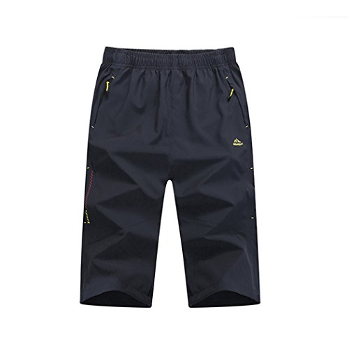 Walk-Leader shorts légers décontractés à séchage rapide pour sport d'extérieur pour hommes, shorts de randonnée 3/4 - gris - X-Large
