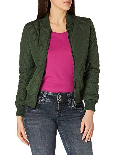 Urban Classics Damen Ladies Diamond Quilt Nylon Jacket Jacke, Grün (Olive 176), 38 (Herstellergröße: M)