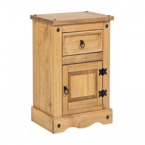 Mercers Furniture Trade Corona Narrow Pot Cupboard Bedside Cabinet Table Light Fiesta Wax
