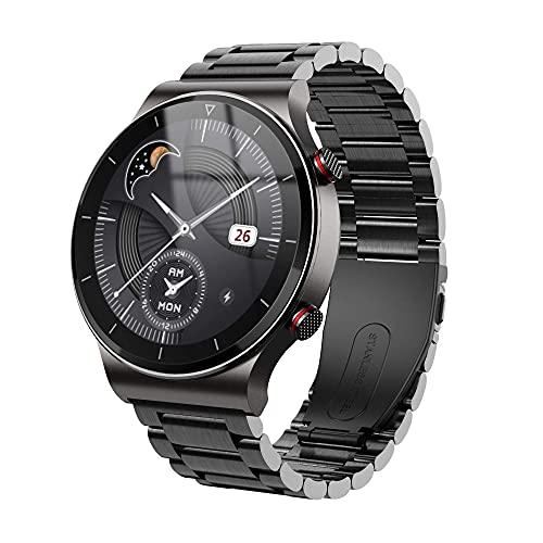 LITINGT Reloj Inteligente Pulsera de Fitness Ip67 Entrenamiento de respiración a Prueba de Agua Detección de frecuencia cardíaca Llamada Bluetooth Podómetro Masculino y Femenino Adecuado para Todo t