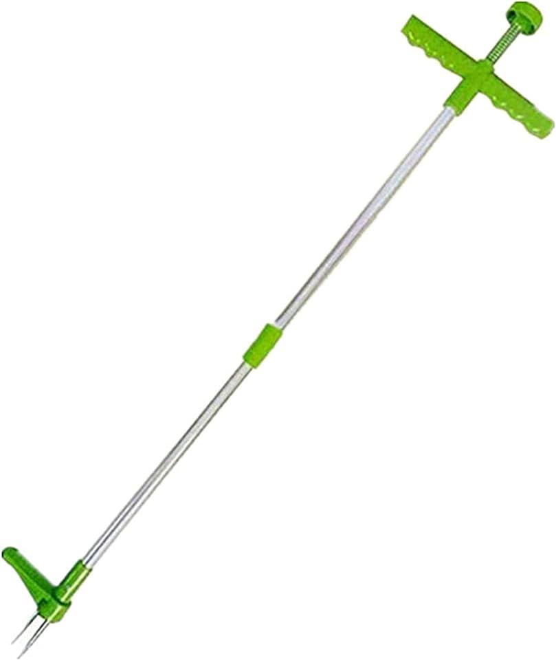 SKTE Vertikales Herbizid, manuelles Herbizid, 3-Klauen-Unkrautwerkzeug mit langem Griff, abnehmbares Aluminiumherbizid, vertikales Herbizid