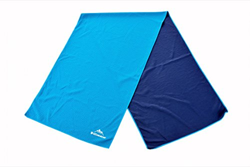 Cooling Towel: Evaporative Microfiber Cooling Towel For Sports & All Outdoor Activities  Instant Chill Towel For Yoga, Golf, Gym, Pilates, Camping, Hiking, Cycling, Travel & Menopause (Blue)