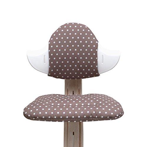 Blausberg Baby - Sitzkissen Set für Nomi Hochstuhl von Evomove - Taupe Stern
