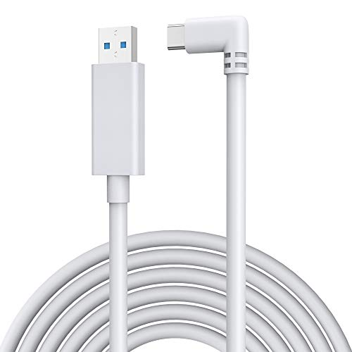 KIWI design Link Cable 16 Feet/5 Meters, High Speed Data Transfer USB Type-C Cable Compatible with Quest 2 by Oculus to Gaming PC, Light Grey