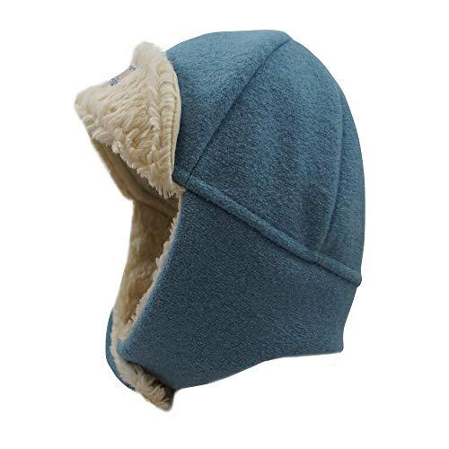 PICKAPOOH Baby/Kinder Mütze Fynn aus Wollwalk kbT (56, Sky Blue)