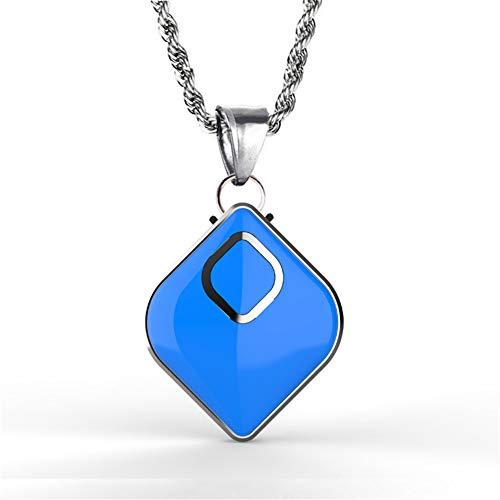 ZZSQ Halskette Tragbarer Mini Luftreiniger Mit USB Negativionengenerator Lufterfrischer Zur Beseitigung Von Keimen, Staub, Viren, Bakterien, Allergenen, Schimmel Und Gerüchen,Blau