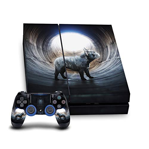 Head Case Designs Officially Licensed Klaudia Senator Lost French Bulldog Vinyl Sticker Gaming Skin Case Cover Compatible With Sony PlayStation 4 PS4 Console and DualShock 4 Controller Bundle