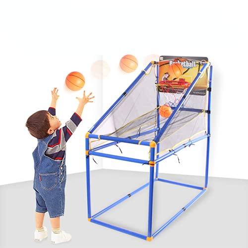 XDXDO Máquina De Tiro De Baloncesto para Niños, Juguete De Baloncesto con Bolas Mini Baloncesto Aro sobre La Puerta Y La Pared, con Un Dispositivo Inflable para Niñas para Niños Edad 3-8,Small