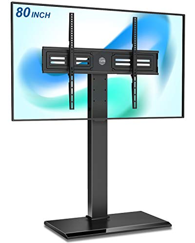 FITUEYES Universal Floor TV Stand Height Adjustable for Large 50-80 Inch LED LCD OLED Flat Screen...