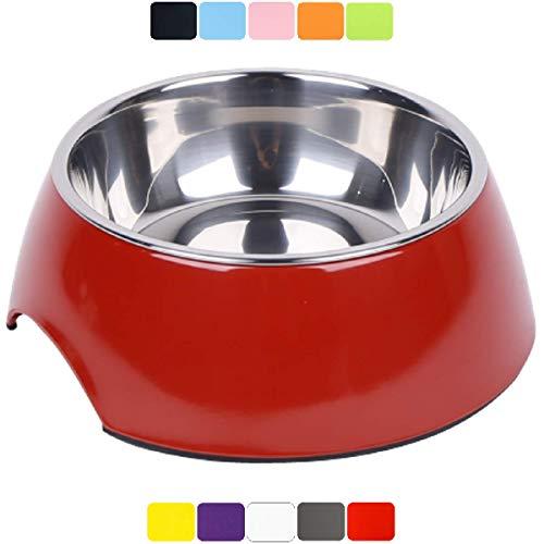 DDOXX Fressnapf, rutschfest   viele Farben & Größen   für kleine & große Hunde   Futter-Napf Katze   Hunde-Napf Hund   Katzen-Napf Edelstahl-Napf   Melamin-Napf   Rot, 160 ml
