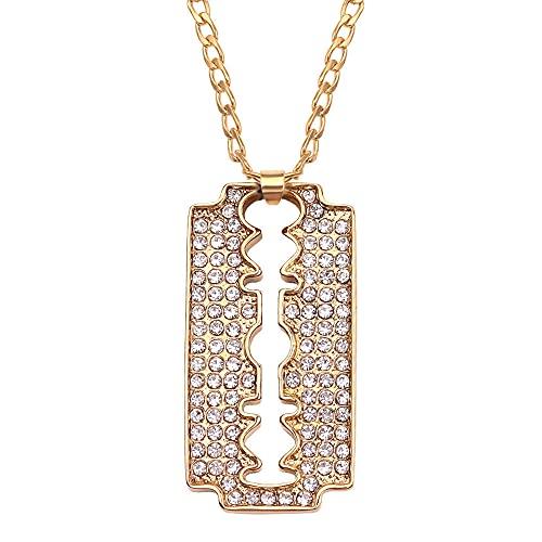 maozuzyy Collar Colgante Joyería Collar Casual De Moda De Metal con Personalidad De Moda para Hombre, Collar Clásico Simple-Xl1873