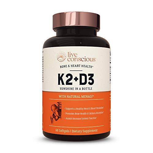Live Conscious Vitamin K2 + D3 Supplement