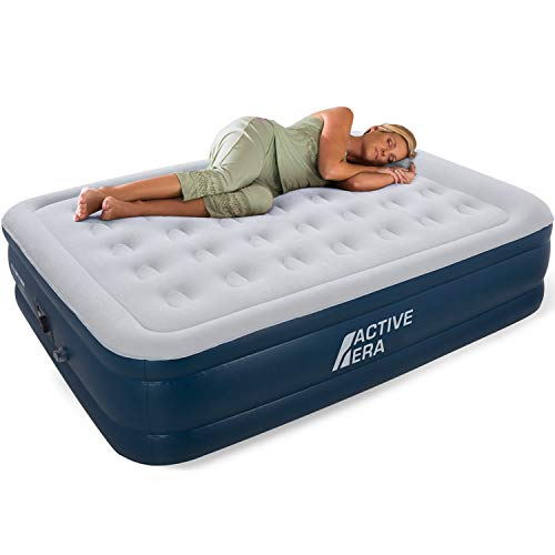 Active Era Premium King Size Air Bed with a Built-in Electric Pump and Pillow