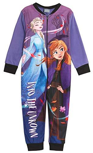 Eiskönigin Pyjama Anna ELSA Frozen Schlafanzug Overall 104 110 116 122 128 134 (134-140)