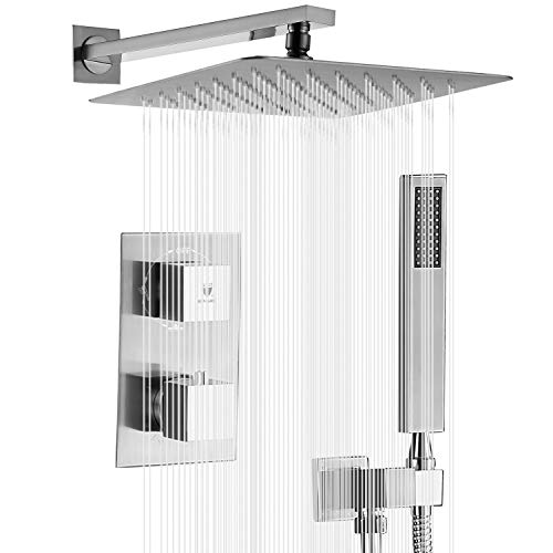 Shower System, High Pressure Rainfall Shower Head, Handheld Shower head and Shower Faucet...