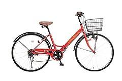 voldy.collection 自転車 26インチ折りたたみシティサイクル VFC-001 レッド