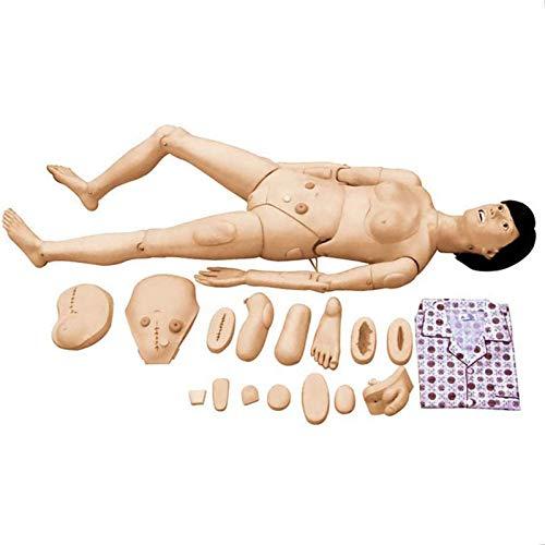 N\C Maniquí de Habilidades para el Cuidado del Paciente, Cuidado Modelo Vida Tamaño para Enfermería Médico Formación Enseñando y Educación Médico Suministros, Mujer, 170cm