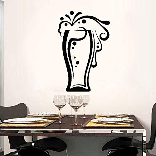 JXCDNB Gafas Colección de Bebidas Jarra de Cerveza Vinilo Calcomanía de Corte Pegatinas de Pared Decoración del hogar Cocina Autoadhesiva Película de Transferencia Mural 27x42cm
