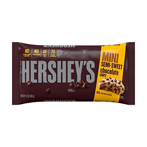 HERSHEY'S Kitchens Semi-Sweet Chocolate Chips, Bulk Baking Supplies, 12 Oz Bag, (Pack of 12)