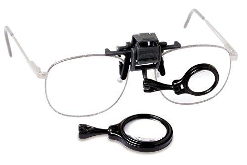 Carson OcuLens Brillenlupe mit Klemmfunktion und 5- bzw. 8-facher Vergrößerung