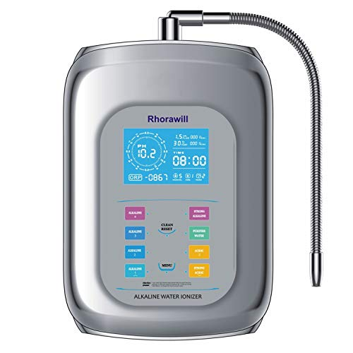 Rhorawill Alkaline Water Ionizer Machine Home Water Filtration System PH