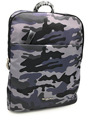 Waipuna Rucksack Kanalana Cityrucksack Damen leicht modern Tasche (Camouflage grau)