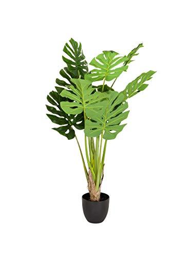 hjh OFFICE Kunstpflanze Philo Philodendron Höhe 120 cm Grün 10 Blätter Baumfreund Zimmer Dekopflanze künstlich, 871006