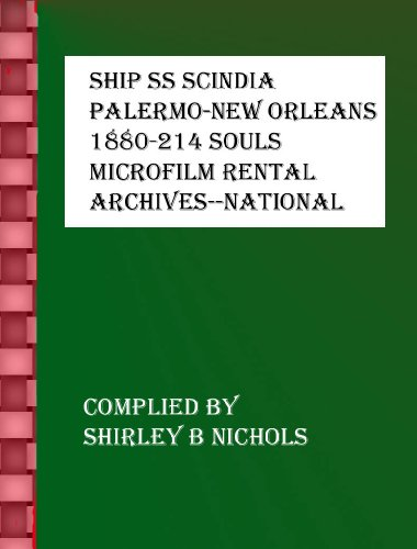 SHIP SS SCINDIA-PALERMO-NEW ORLEANS-1880-250-SOULS (English Edition)