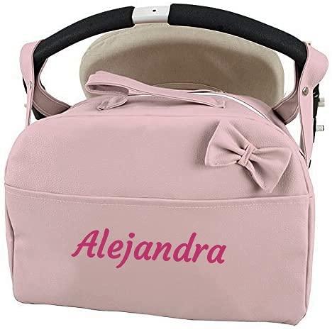 Bolso Polipiel Carrito Bebe Personalizado con Nombre Bordado danielstore Nombre Bebé Bordado Color rosa maquillaje