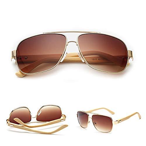 GYZ Gafas de Sol de Madera Retro Vintage Designer Wayfarer Aviator Deportes al Aire Libre UV400 Gafas de Sol (Color : 4)