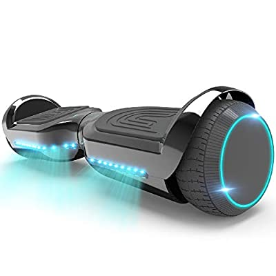 HOVERSTAR Hoverboard All-New Mode- HS2.1 Two-Wheel Self Balancing Scooter with Flashing Blue Wheel Lights and Wireless Bluetooth Speaker (Chrome Black)