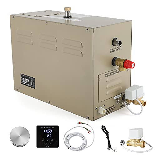 CGOLDENWALL 9KW Commercial Self-Draining Steam Generator Shower System Bath Home SPA 30 min to 12 Hours with Waterproof controller For suitable space heating 9 m³/ 318 cubic feet (9KW)