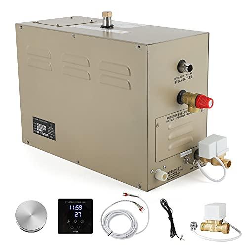 CGOLDENWALL Generador de Vapor 9KW con Función de Drenaje Automático/95-131 ℉ Termostato Automático/Temporizador...